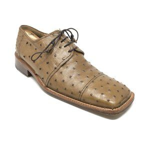 Mauri Oxfords Shoes Size 10 Brown Full Ostrich